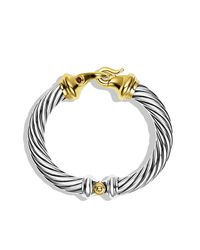 David Yurman - Metallic Cable Classic Bracelet With Gold, 10Mm - Lyst