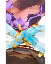 Bounkit | Multicolor Faceted Amethyst And Blue Quartz Earrings | Lyst