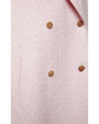 Rochas - Pink Double Wool Mohair Coat - Lyst