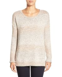 Sanctuary - Natural 'northern' Open Stitch Detail Sweater - Lyst