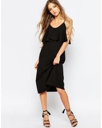 Daisy Street | Black Cami Dress With Frill Top | Lyst