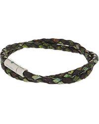 Tateossian | Xxv Anniversary Scoubidou Double-wrap Bracelet, Men's, Green 1 | Lyst