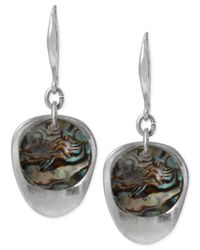 Robert Lee Morris - Metallic Silver-Tone Abalone Bead Sculptural Drop Earrings - Lyst