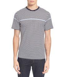 Sunspel | Gray Stripe T-shirt for Men | Lyst