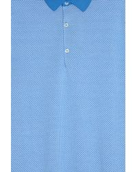John Smedley - Blue Horst Pattern Polo Shirt for Men - Lyst
