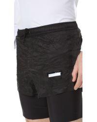 "Satisfy - Black Long Distance 8"" Shorts for Men - Lyst"