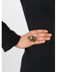 Alexander McQueen | Metallic Victorian Jeweled Skull Ring | Lyst