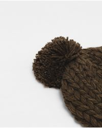 """Zara   Natural """"hand Made"""" Knit Hat for Men   Lyst"""