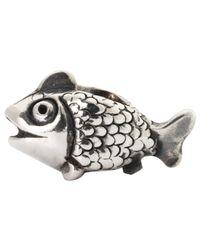 Trollbeads | Metallic Jewel Fairy Basslet Sterling Silver Charm | Lyst