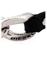 DIESEL | Black Chain Detail Bracelet for Men | Lyst
