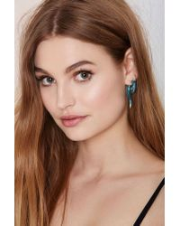 Nasty Gal | Blue Throw Curves Tunnel Earrings | Lyst