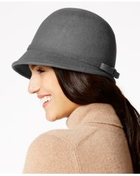Nine West | Gray Brimless Back Felt Cloche | Lyst