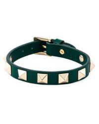 Valentino | Green 'rockstud' Bracelet | Lyst