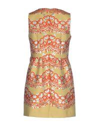 RED Valentino - Orange Short Dress - Lyst