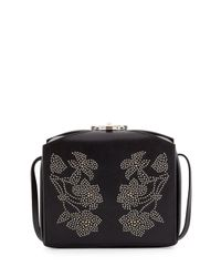 Alexander McQueen - Black Studded Leather Box Bag - Lyst