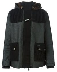 Bark - Black Hooded Jacket for Men - Lyst