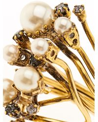 Erickson Beamon | Metallic Stratosphere Crystal & Faux-Pearl Ring | Lyst