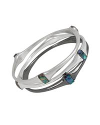 Robert Lee Morris | Blue Indigo Depths Abalone Bracelet Set | Lyst
