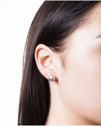 Carolina Bucci | Black Pearl And Small Star Stud Earring | Lyst