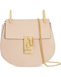 Chloé - Natural Drew Mini Leather Cross-body Bag - Lyst