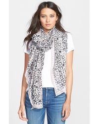 Halogen - Gray 'Mini Tile' Geometric Print Scarf - Lyst