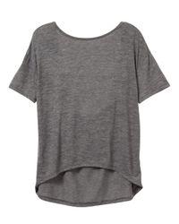 Alternative Apparel   Gray Pony Melange Burnout T-shirt W/ Back Strap   Lyst