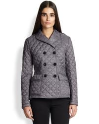 Burberry Brit - Gray Marriford Quilted Jacket - Lyst