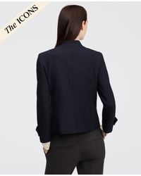 Ann Taylor | Blue Double Breasted Blazer | Lyst