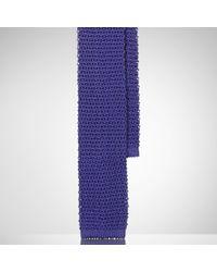 Ralph Lauren Black Label   Purple Knit Silk Tie for Men   Lyst