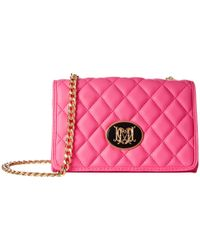 Love Moschino - Pink Quilted Crossbody - Lyst