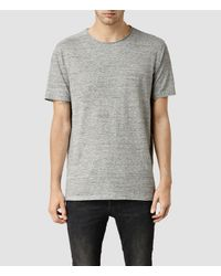 AllSaints - Gray Forgone Crew T-shirt for Men - Lyst