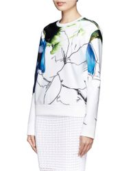 Reed Krakoff - Multicolor Floral Collage Scuba Jersey Pullover - Lyst