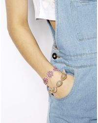 ASOS | Gray Flower Shell Bracelet Pack | Lyst