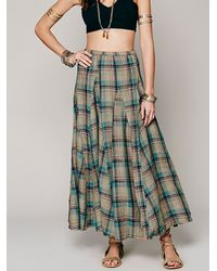 Free People | Green Latter To Love Skirt | Lyst