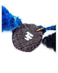 Dosa | Blue Pom Pom Charm Bracelet | Lyst