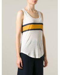 Burberry Brit - White Striped Tank Top - Lyst