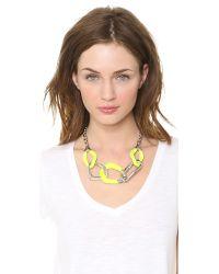 Alexis Bittar | Liquid Metal 5 Link Necklace Neon Yellow | Lyst