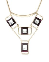 TOPSHOP | Metallic Premium Square Jewel Collar | Lyst