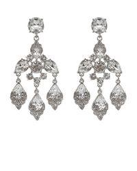 Oscar de la Renta - Metallic Crystal Chandelier Earrings - Lyst