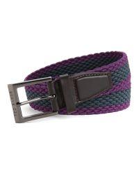 Ted Baker - Purple Striped Elastic Belt for Men - Lyst