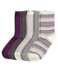 H&M - Gray 5-pack Socks - Lyst
