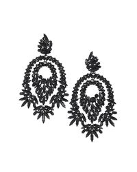 BCBGMAXAZRIA | Black Oversized Rhinestone Cocktail Earrings | Lyst