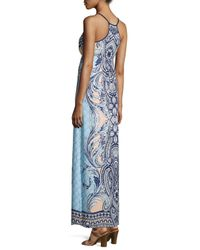 Greylin - Blue Paisley Sleeveless Maxi Dress - Lyst