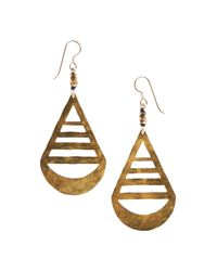 Marisa Mason | Metallic Teardrop Earrings | Lyst