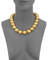 Kenneth Jay Lane | Metallic Beaded Strand Necklace | Lyst