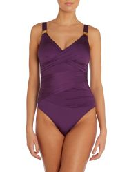 Biba - Purple Goddess Tummy Control Swimsuit - Lyst
