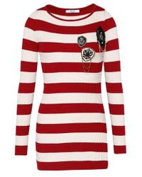 Liu Jo | Purple Striped Jumper With Badges | Lyst
