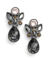 Givenchy - Metallic Small Jeweled Drop Earrings - Lyst