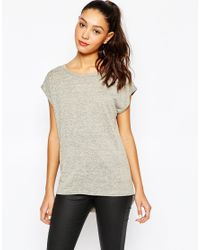 Daisy Street - Gray Space Dye Top With Open Drape Back - Grey - Lyst