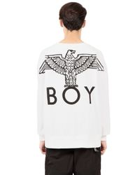 BOY London - White Boy Eagle Printed Cotton Sweatshirt - Lyst